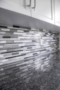 patterned backsplash